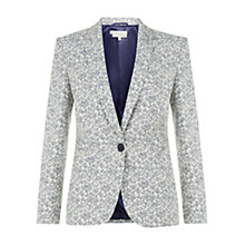 Buy Hobbs Michelle Jacket, Blue Multi Online at johnlewis.com