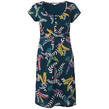 Buy White Stuff Flying Parrots Dress, Ocean Teal Online at johnlewis.com