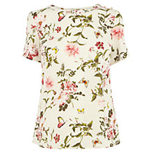 Buy Oasis Beautiful Floral Top, White/Multi Online at johnlewis.com