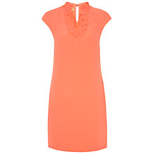 Buy NW3 by Hobbs Gaia Embroidered Dress, Salmon Pink Online at johnlewis.com