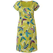 Buy White Stuff Exotic Bird Print Cotton Dress, Green Online at johnlewis.com