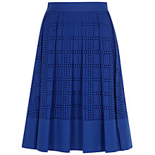 Buy Hobbs Mercy Skirt, Brilliant Blue Online at johnlewis.com