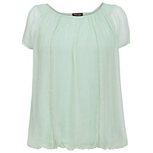 Buy Phase Eight Kirsten Silk Cap Sleeve Blouse, Cameo Green Online at johnlewis.com