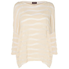 Buy Phase Eight Dania Textured Striped Top, Ivory Online at johnlewis.com