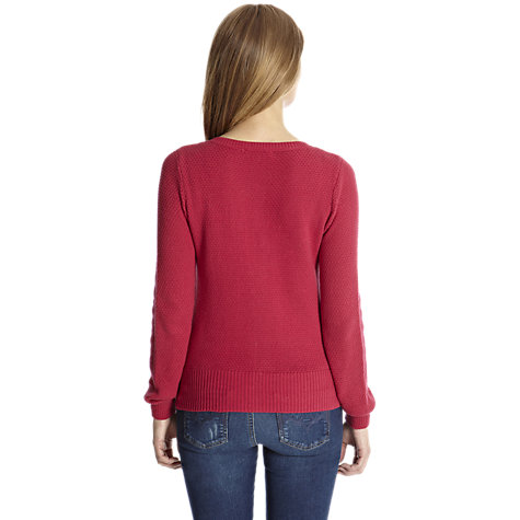 Buy Oasis Texture Cardigan, Bright Pink Online at johnlewis.com