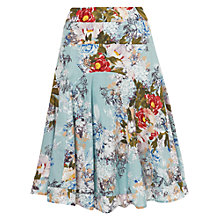 Buy Phase Eight Mara Floral Print Skirt, Mist Online at johnlewis.com