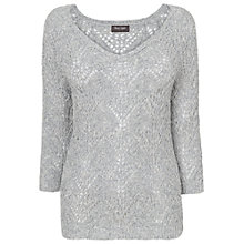 Buy Phase Eight Marl Shereya Knitted, Blue/Grey Online at johnlewis.com
