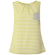 Buy White Stuff Stripe Vest, Zesty Lemon Online at johnlewis.com