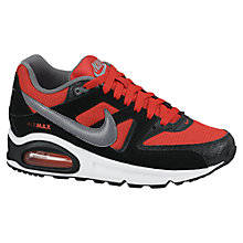 Buy Nike Childrens' Air Max Command Trainers, Red/Black Online at johnlewis.com