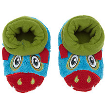 Buy Totes Monster Booty Slippers, Blue/Multi Online at johnlewis.com