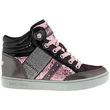 Buy Lelli Kelly Childrens' Glitter Trainers, Black/Pink Online at johnlewis.com