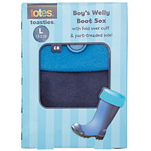 Buy Totes Children's Welly Boot Socks, Blue Online at johnlewis.com