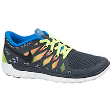 Buy Nike Childrens' Free 5.0 Trainers, Dark Grey/Multi Online at johnlewis.com