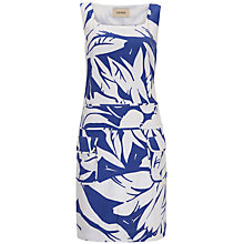 Buy Havren Feather Print Dress, Peacock Combo Online at johnlewis.com