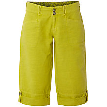 Buy White Stuff Summers Day Linen Blend Crop Shorts, Zesty Lemon Online at johnlewis.com