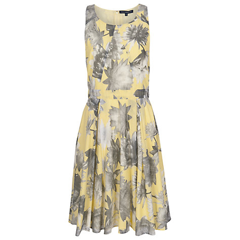 Buy French Connection Lilly Collage Voile Dress, Tecno Valley Multi Online at johnlewis.com
