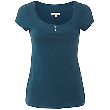 Buy White Stuff Daisy Chain T-Shirt, Ocean Teal Online at johnlewis.com