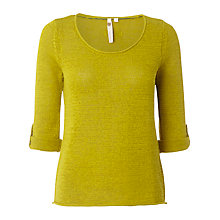 Buy White Stuff Plain Knit Jumper, Zesty Lemo Online at johnlewis.com