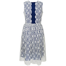 Buy Paisie Scallop Cut Lace Cocktail Dress, Multi Online at johnlewis.com