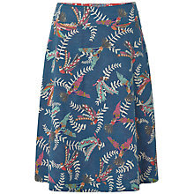 Buy White Stuff Flying Parrots Reversible Skirt, Ocean Teal Online at johnlewis.com