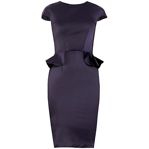 Buy Paisie Peplum Pencil Dress, Dark Purple Online at johnlewis.com