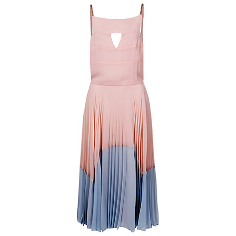 Buy French Connection Solar Spells Dress, Capri Blush/Ice Cooler Online at johnlewis.com