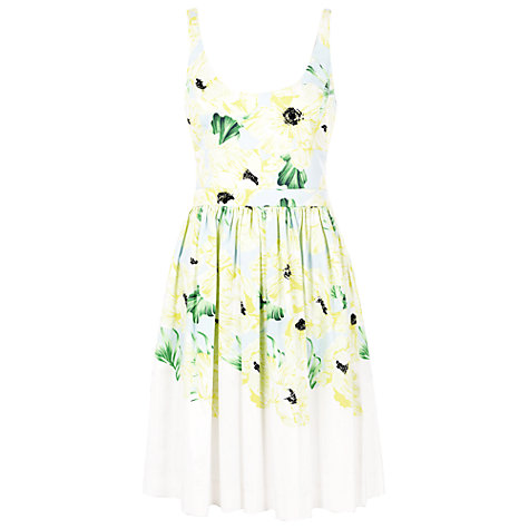 Buy French Connection Holiday Poppy Cotton Dress, Ice Cooler Multi Online at johnlewis.com