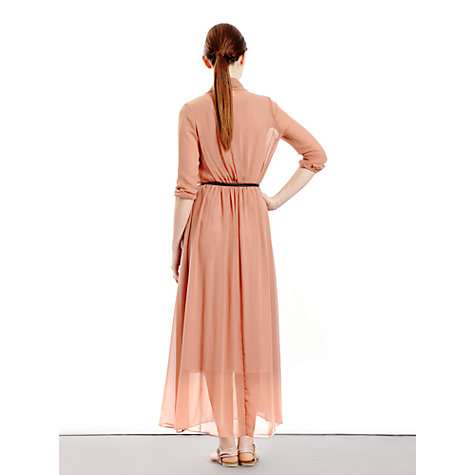 Buy Paisie Chiffon Midi Dress, Blush Online at johnlewis.com