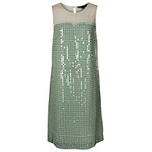 Buy French Connection Micro Dot Sequin Dress, Pear Spritz Online at johnlewis.com