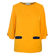 Buy Paisie Mid Sleeve Top, Mustard Yellow Online at johnlewis.com