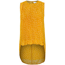 Buy Paisie Dip Hem Print Top, Mustard Yellow Online at johnlewis.com