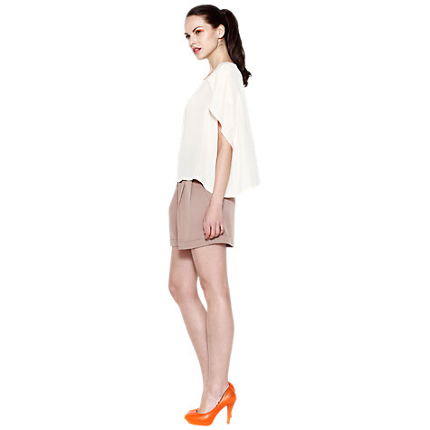 Buy Paisie Tulip Sleeve Top, Cream Online at johnlewis.com