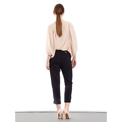 Buy Paisie Pleated Chiffon Blouse, Pink Online at johnlewis.com