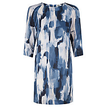 Buy Kin by John Lewis Brushstroke Print Dress, Navy Online at johnlewis.com