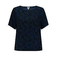 Buy Kin by John Lewis Marble Print Top, Navy Online at johnlewis.com