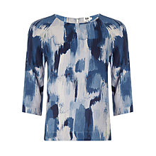 Buy Kin by John Lewis Brushstroke Print Top, Navy Online at johnlewis.com