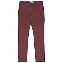 Buy Reiss Desert Soft Straight-Leg Chinos, Rose Online at johnlewis.com