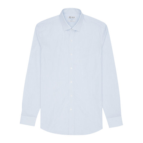 Buy Reiss Dario Tonal Stripe Shirt, Blue Online at johnlewis.com
