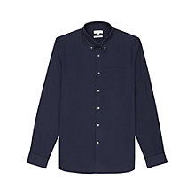 Buy Reiss Astley Slim-Fit Button Down Long Sleeve Shirt, Navy Online at johnlewis.com