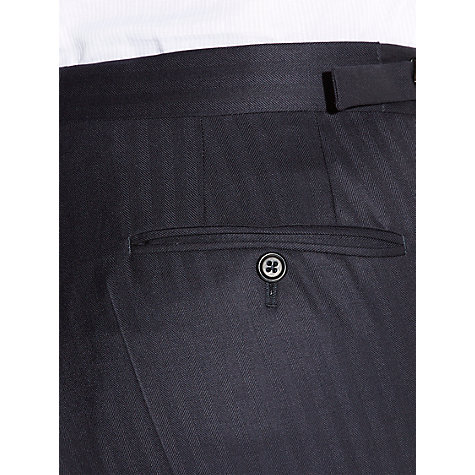 Buy Aquascutum Herringbone Twill Wool Suit Trousers, Navy Online at johnlewis.com