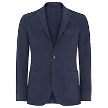 Buy Aquascutum Pinpoint Clipper Jacket, Navy Online at johnlewis.com