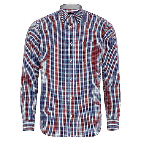 Buy Aquascutum Mini Club Check Print Shirt, Red/Multi Online at johnlewis.com