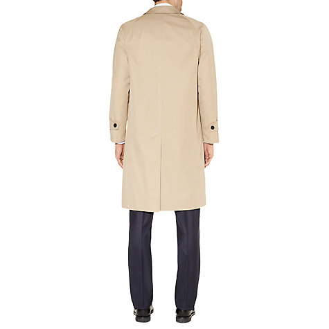 Buy Aquascutum Single Breasted Filey Raincoat, Camel Online at johnlewis.com