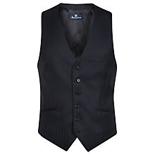 Buy Aquascutum Herringbone Twill Wool Waistcoat, Navy Online at johnlewis.com