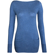 Buy Winser Cotton Tunic Jumper, Denim Online at johnlewis.com