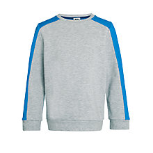 Buy Kin by John Lewis Stripe Detail Jersey Top, Grey/Blue Online at johnlewis.com
