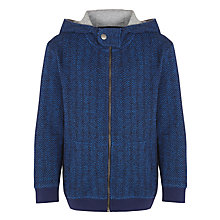Buy Kin by John Lewis Boys' Herringbone Hoody, Navy Online at johnlewis.com
