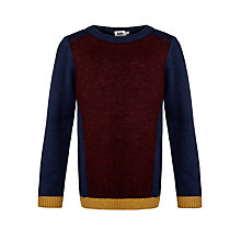 Buy Kin by John Lewis Boys' Texture Colour Block Jumper, Blue/Red Online at johnlewis.com