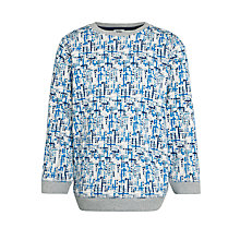 Buy Kin by John Lewis Boys' Ant Farm Long Sleeve Crew Neck Sweater, Blue/Grey Online at johnlewis.com