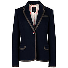 Buy Ted Baker Contrast Trim Detail Blazer, Navy Online at johnlewis.com
